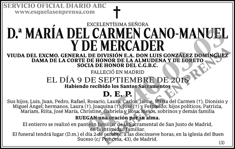 María del Carmen Cano-Manuel y de Mercader